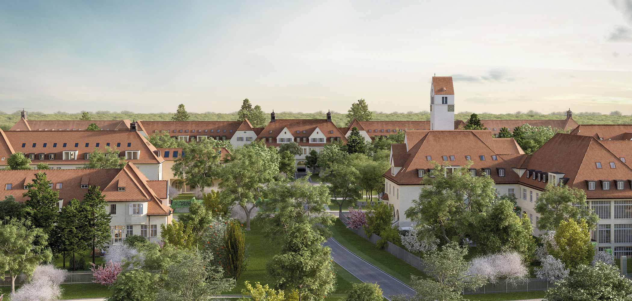Denkmalimmobilien Quartier 1907 in München-Haar mit modernen Maisonette-Wohnungen., Startseite